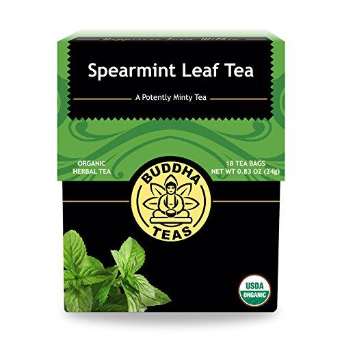 Buddha Teas Organic Spearmint Tea   18 Bleach-Free Tea Bags   Made in the USA   Caffeine-Free   No GMOs