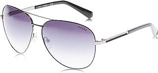 Guess Men's GU0001308C Sunglasses, Color: Shiny Gunmetal/Smoke Mirror, Size: 63