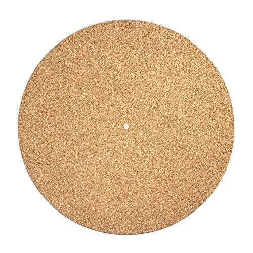 Turntable Mat Slipmat Cork (Diameter: 30cm/11.8in Thickness: 3mm 1/8in) Vinyl Record Improve Sound Quality Reduce Vibrations Absorb Resonances DIY Upgrade Best on Metal Platter - Unihom