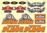 N. 13 - Stickers Adesivi compatibili con casco, motorino, scooter ktm racing moto,