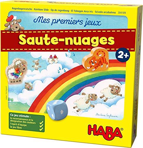 HABA 304189 - Mes Premiers Jeux – Saute-Nuages - jeu coopératif dès l'âge de 2 ans pour connaître les premiers chiffres et les premières couleurs