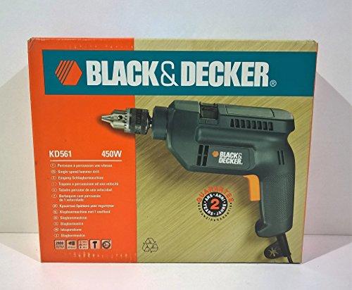 Black & Decker Taladro percusión 1 velocidad KD561 450 W 230 V Hammer Drill