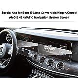 [2 pièces] LFOTPP Mercedes-Benz Classe E 12,3 Pouces Navigation Verre Trempé - Dureté 9H Film Protection GPS Nav Écran Protecteur Vitre
