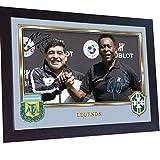 SGH SERVICES Poster Pele Maradona Fußball-Legenden,