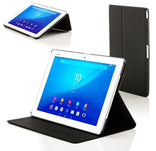 Forefront Hülles Hülle für Sony Xperia Z4 Tablet 10.1 SGP771 Schutzülle Hülle Cover und Ständer - Dünn Leicht, R&um-Geräteschutz und Auto Schlaf Wach Funktion - Schwarz