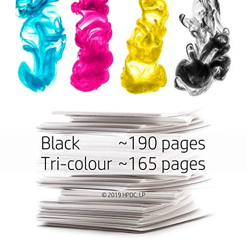 HP X4D37AE 302 Original Ink Cartridges, Black and Tri-color, Pack of 2