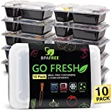 GO FRESH Meal Prep Containers [10-Pack]