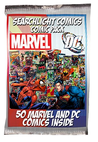 Searchlight Comics 50 Comic bundle with 25 Marvel and 25 DC Comics