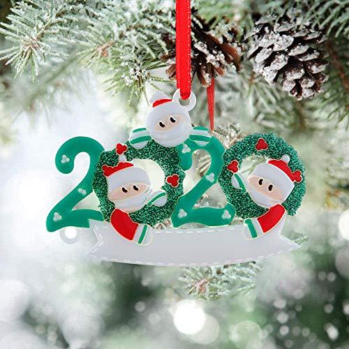 Christmas Decoration,2020 Quarantine Christmas Decoration,Decorazioni Personalizzate per l'albero di Natale, Ciondoli con Pupazzo di Neve, Regali Creativi con Gli Auguri, per la Famiglia e Gli Amici