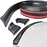 Spurtar Rear Spoiler 4.9ft (150cm), Universal Car Trunk Spoiler Roof Lip Kit with Glossy Black Carbon Fiber Pattern fits most Cars, Punch-Free Installation