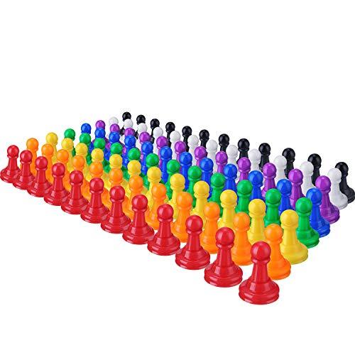 96 Piezas 1 Pulgada de Piezas de Peones de Ajedrez de Plástico de Multicolor para Juegos de Mesa, Componentes, Marcadores de Mesa, Artes y Artesanías