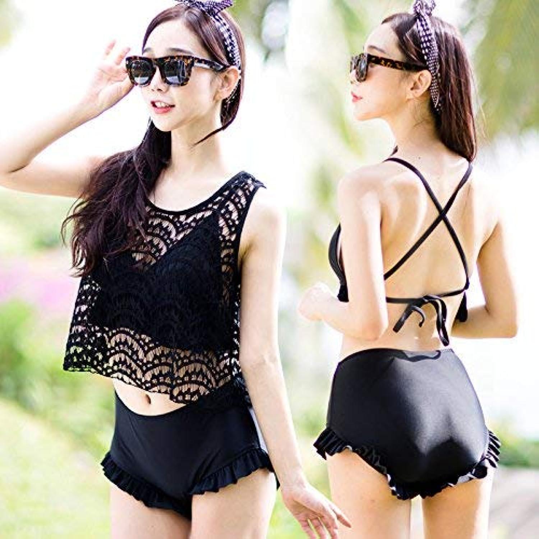 Qiusa Spa-Badeanzug-Badebekleidung Sexy Sexy Sexy Lace Bikini kommen zusammen, Schwarz, XL Spa. (Farbe   Wie Gezeigt, Größe   Einheitsgröße) B07PRFD4C3  Internationaler großer Name 4d2a74