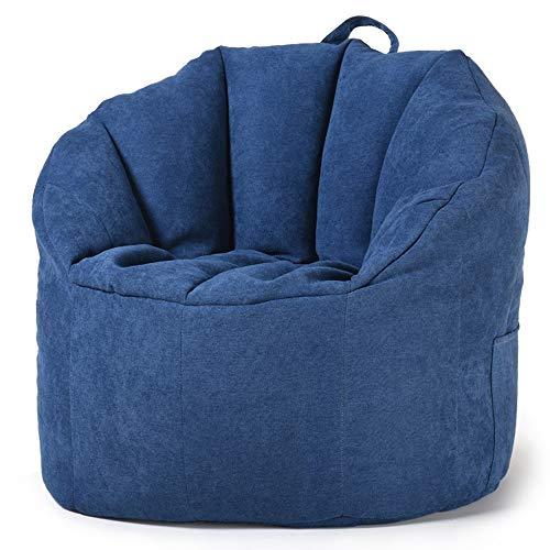 Lazy Sofa Sitzsack, Sitzsack Stuhl No Filler Soft-Lounger High Back Bean Bag Chair 76 * 68 * 60 cm geeignet for das Lesen von Musik hören Schlafen und Ruhen for Erwachsene und Kinder ( Color : B )