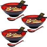 Niceamz Ramen Suppe Gruppe, 50 Unzen Nudeln mit einem Löffel und Stäbchen-Set, für Nudeln, Udon, Reis Nudeln, Pasta, Suppen und Salate