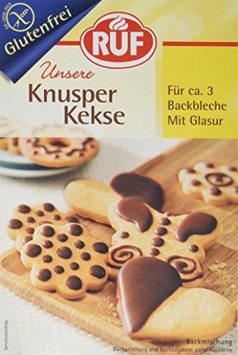 Glutenfreie Knusper Kekse mit Glasur für 3 Backbleche, 1 x 475 g