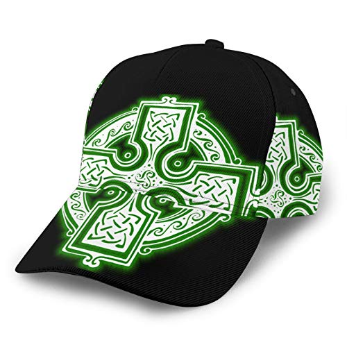Christian Celts Symbol Knot Celtic Cross Unisex 3D Printing Classic Baseball Cap Snapback Flat Bill Hip Hop Hats Black