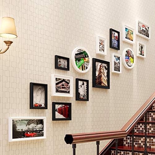 William 337 Cadre photo style européen pour salon, chambre à coucher, restaurant, 15 cadres photo créatifs, C