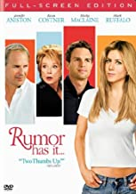 Rumor Has It... (DVD/ Full Screen Edition / Dolby Digital 5.1) Jennifer Aniston, Mark Ruffalo, Shirley MacLaine, Kevin Costner, Kathy Bates