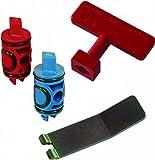 Viega 50602 PureFlow Zero Lead Manabloc Valve Stem Replacement Kit Red and Blue