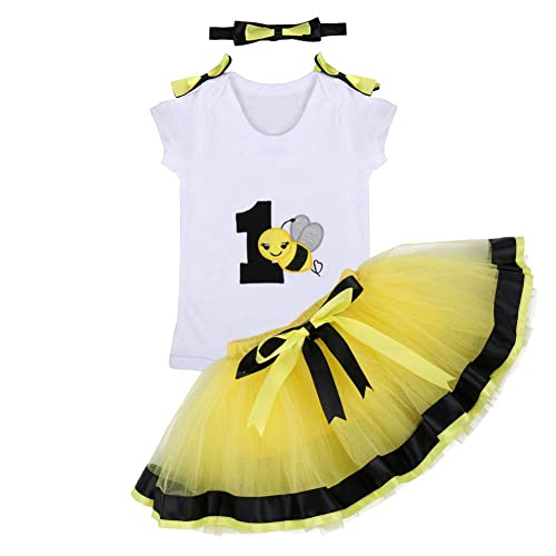 ca90b4d78 Baby Girl First Birthday Outfits Romper Tutu Skirt Sequin Headband Clothes  3PCS Set