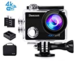 Sport Cam, Deecam Action Cam 4K Ultra HD 16 MP WIFI mit 2* Akkus, SONY Sensor, 30m Wasserdicht,...
