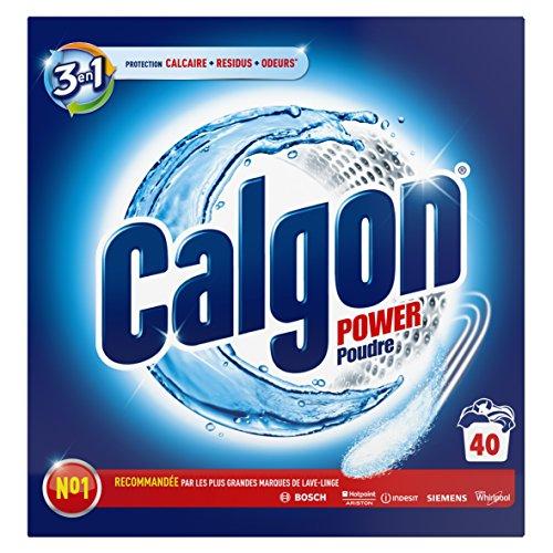 Calgon Poudre Anticalcaire Nettoyant Lave-Linge 3en1 - 40 Lavages