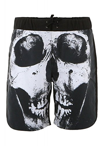 Iron Fist - Männer lösen Tooth Boardshorts, Small, Black