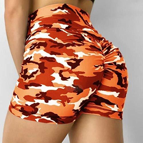 bayrick Leggings Sin Costuras Corte de Malla Mujer Pantalon,Impreso Primavera y Verano Caderas de Cintura Alta de Cintura Alta, Pantalones de Yoga Ajustados Pantalones Cortos Deportivos-2_L
