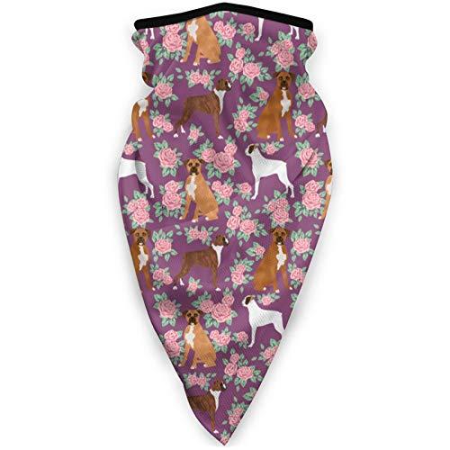 YTGQ4PT Mascarilla deportiva unisex con diseño de flores rosas y amatistas, resistente al viento, para exteriores, multifuncional, resistente al viento, color negro