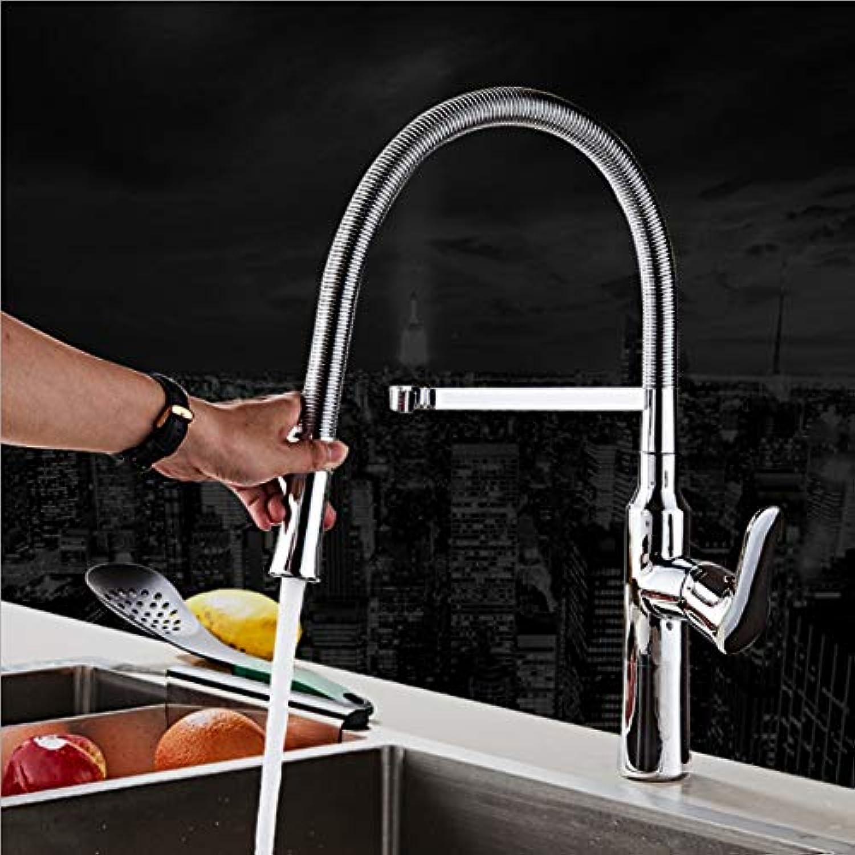 YYBFG Frühling Stretch Küchenarmatur,Drehbar Einzelgelenk Küche heier und kalter Wasserhahn