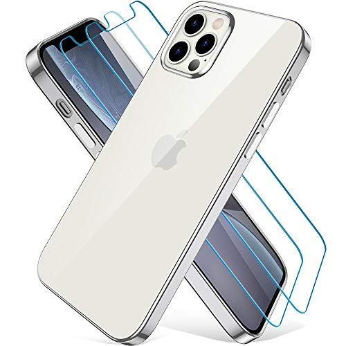 Wiselead Hülle für iPhone 12 Pro Max - 6.7 Zoll Silber