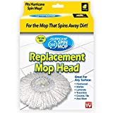 Hurricane Spin Mop Replacement Mop Head by BulbHead, Blue