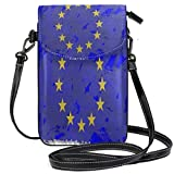 XCNGG Borsa piccola per cellulare Flag World Flags Kingdom Emblem Cell Phone Purse Wallet for Women Girl Small Crossbody Purse Bags