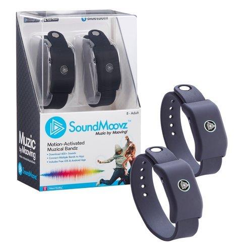 Soundmoovz - Bandas musicales portátiles activadas por movimiento y aplicación, color negro