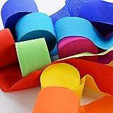 Wohlstand Lot de 15 Rouleaux de Papier crépon,Crepe Paper Craft Streamers Décorations Suspendues pour Divers...