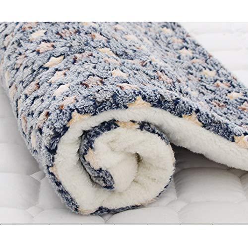 Haustier Matte Flanell Farbe Pfote Muster weich waschbar Winter verdicken warme Welpen schlafen Abdeckung Handtuch Decke Kissen