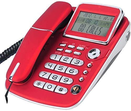 Teléfono TELÉFONO DE INICIO TELÉFONO DE TELÉFONOS PARA LANZARIOS TELÉFONO CABLETOS TELÉFONO ADICIONAL ONE-BOTONES Manos libres, Número de llamada, Dos puertos se pueden conectar a extensiones, Teléfon