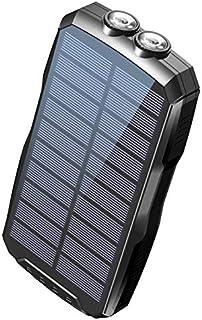 2020年新登場 モバイルバッテリー ソーラー ソーラーチャージャー 25000mAh elzle 大容量 Qiワイヤレス充電機能搭載 耐衝撃 太陽光充電可能 三台同時充電 高輝度LEDライト付き PSE認証済 IOS Andoroid対応 緊...