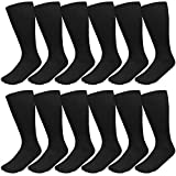 Falari Diabetic and Circulatory Non Binding Physicians Approved Socks Crew (12 Pairs) 9-11 Black