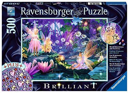 Ravensburger Puzzle 14882 - Im Feenwald - 500 Teile Puzzle für Erwachsene und Kinder ab 10 Jahren, Fantasy-Puzzle mit Dekosteinen zum Verzieren