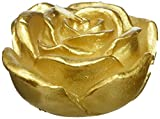 Zest Candle 12-Piece Folding Candles, 3-Inch, Metallic Gold Rose
