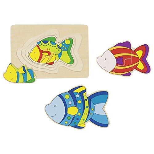 Goki 57897 - laagpuzzel - vis