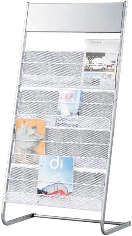 School Fashion Floor Brochure Holder Silver 4 In stock Iron Office Rack Magazine