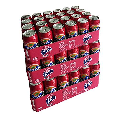 Fanta Strawberry & Kiwi 72 x 0,33l Dose XXL-Paket (Erdbeere & Kiwi)