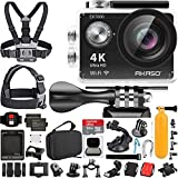 AKASO EK7000 4K Video WiFi Action Camera Ultra HD Waterproof DV Camcorder 12MP 170 Degree Wide Angle LCD (Black) with Wireless Remote Custom Case Memory Card Sports Camera Starter Kit