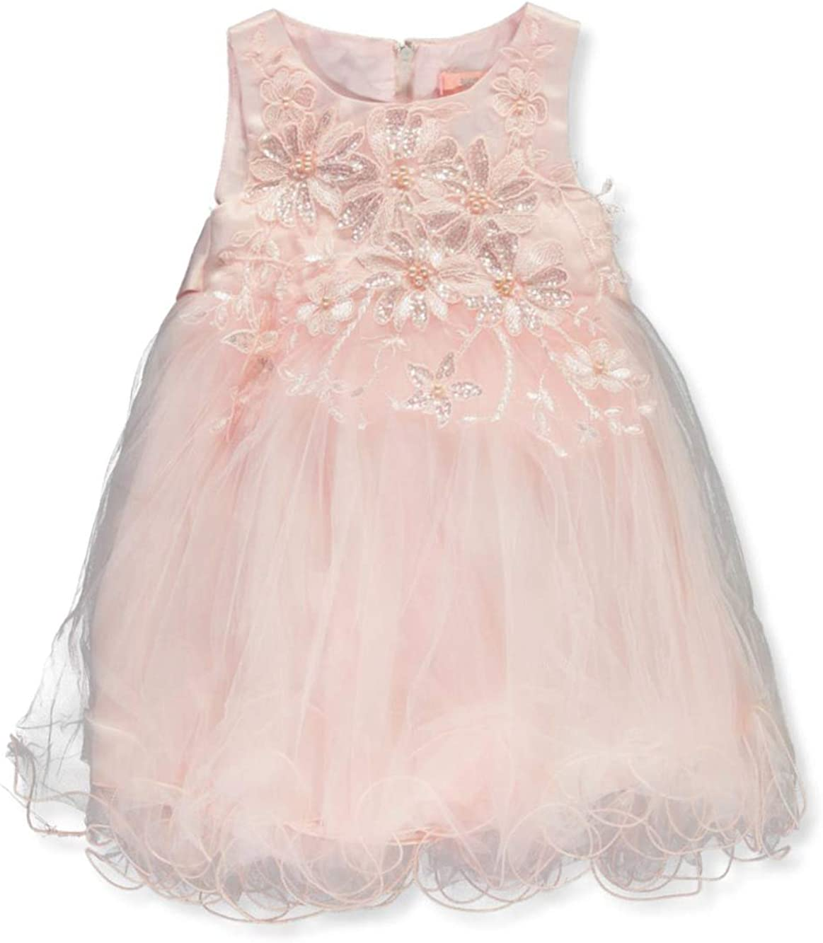 Pink Butterfly Baby Infant Long Beach Mall Floral Sequin - Long-awaited Blush Dress 24 Month