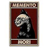 WPQL Home Decoration Skelett Hund Memento Mori Poster