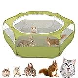 VavoPaw Valla Portátil de Mascotas, 190T Tafetán Parque Corral Plegable para Animales Pequeño, Casa Portátil Transpirable de Jaula para Perros, Gatos, Conejos, Cachorro y Animales Domésticos - Verde