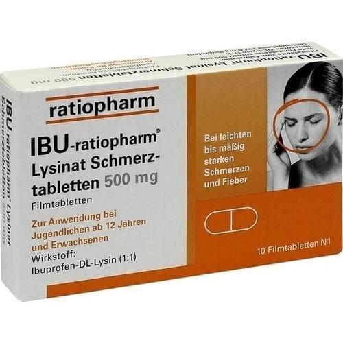 Ibu-ratiopharm Lysinat 500, 10 St.