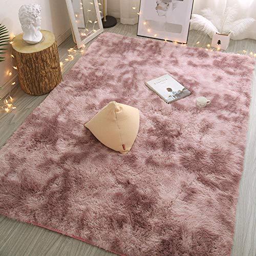 kanglang Dormitorio mesita de Noche Alfombra alfombras de Piso Sala de Estar Llena de Lindas Mantas de Felpa-Rosado Morado_El 120x200cm